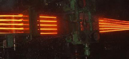 切分轧制提高产量 切分测径仪保驾护航