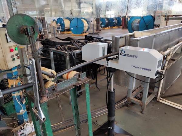蓝鹏测控:光电测径仪自动检测 线缆电缆生产线的自动化改变