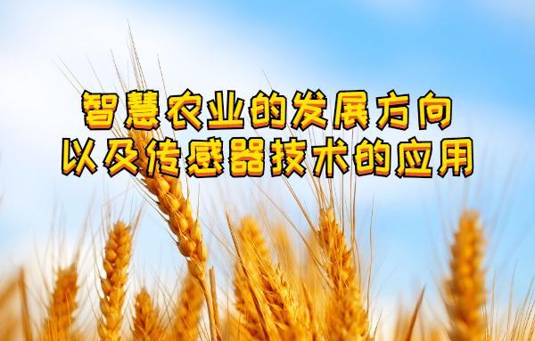 智慧农业的发展方向以及传感器技术的应用