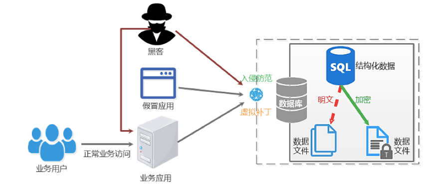 虛擬補�。阂环N有效的數據庫安全防護方式
