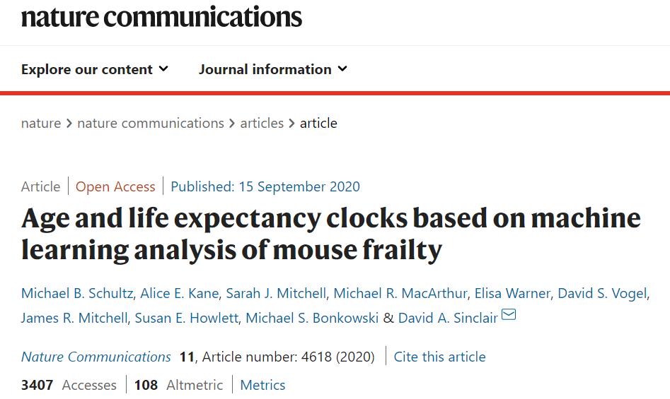 哈佛医学院用机器学习算法开发AI时钟,能够预测剩余寿命