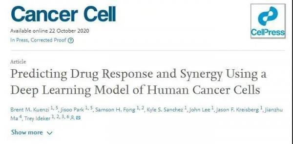 陈根:人工智能出场医疗,设计癌症联合疗法