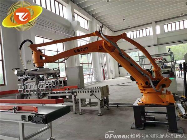 码垛机器人应对劳动力短缺,促进智能制造