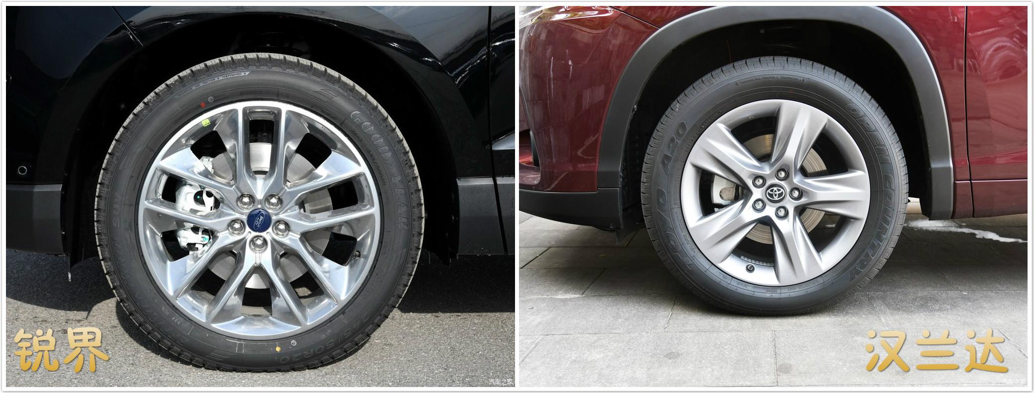 大型7座合资SUV之间的较量——福特锐界VS丰田汉兰达