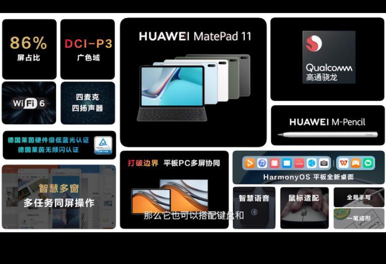 华为MatePad11的最大意义:鸿蒙适配高通芯片,样板性产品