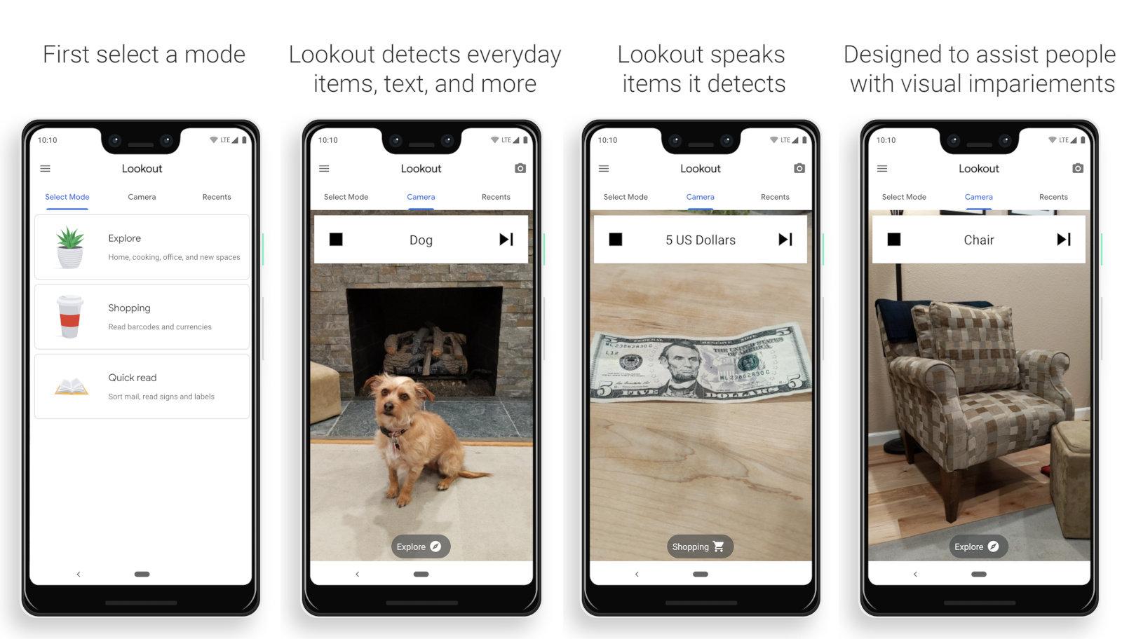 谷歌新应用帮助视障用户使用手机识别物体或阅读文本