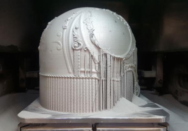 这款华丽的罗马头像完全采用3D打印