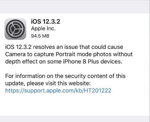 苹果iOS12.3.2来了!只有这款iPhone才能升级