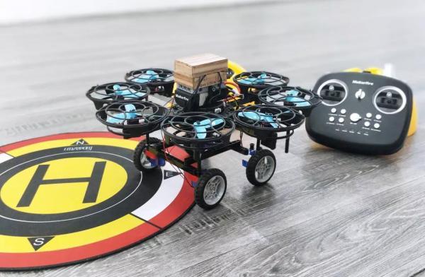 首次改造空陆两用的无人机,4个组件就搞定,小白也能学会!