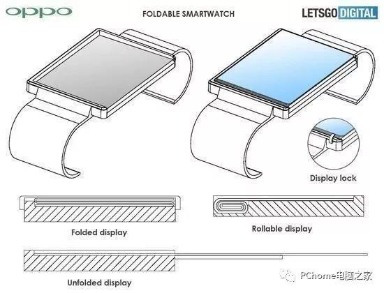 OPPO折叠屏幕手表专利曝光:三个酷图案