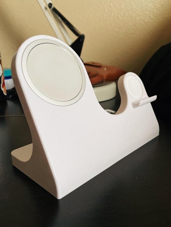 网友使用 3D 打印自制苹果 MagSafe Duo 磁吸充电器